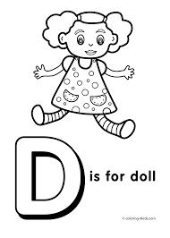 alphabet coloring pages preschool d coloring pages preschool