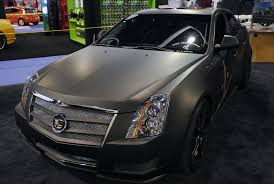 matte black cadillac cts v high xpectations builds 2012 caddy cts for the 2012 sema