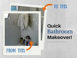 quick bathroom makeover something on everything