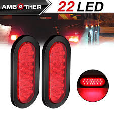 flush mount trailer lights amazon com 33 red oval oblong 33 surface mount led brake stop turn