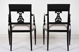 set of eight hollywood regency style dining chairs