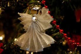 nannygoat christmas ribbon angel ornaments