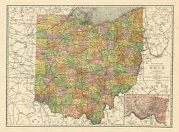 map of ohio maps of ohio posters and prints at