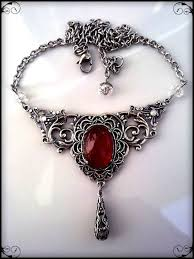 gothic jewelry necklace images Victorian gothic necklace carnelian agate necklace silver filigree jpg