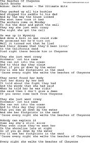 U Got It Bad Lyrics The Beaches Of Cheyenne By Garth Brooks Lyrics