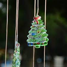 Color Changing Christmas Trees - solar color changing led wind chime decor light christmas tree