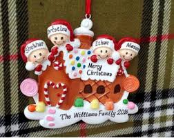 personalized ornament gingerbread house family of 6