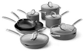 calphalon easy system nonstick cookware set 12 piece cutlery
