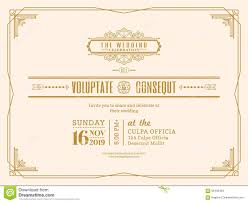 Invitation Card Border Design Vintage Wedding Invitation Card Border And Frame Template Stock
