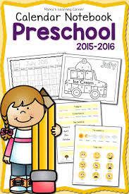 free printable 2015 2016 preschool calendar notebook faithful
