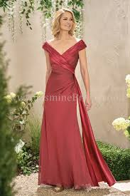 Mother Of Bride Dresses Couture by J195003 Long Portrait Neckline Chiffon U0026 Malay Satin Mob Dress