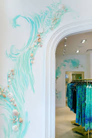 best 20 ocean mural ideas on pinterest teal bathroom furniture hand painted wall detail at our newest lilly pulitzer store at coconut point in estero