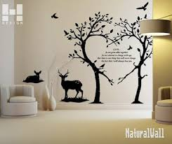 sticker on wall decor love trees and deers vinyl wall decals wall sticker on wall decor love trees and deers vinyl wall decals wall stickers wall art best decor