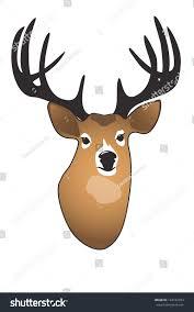 Deer Head by Deer Head Large Branched Antlers Stock Illustration 124182973