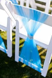 how to make chair sashes wedding ceremony chair décor with tulle decoration trend