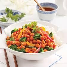 cuisiner des pois chiches pois chiches général tao et légumes recettes cuisine et