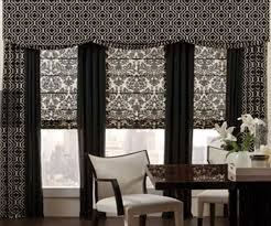 Shades And Curtains Designs Bay Window Treatment Combining Of Curtains Blinds Or Shades
