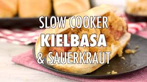 slow cooker kielbasa and sauerkraut with beer u0026 brown sugar