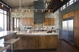 track lighting kitchen island wall breakfast bar kitchen industrial with breakfast bar track