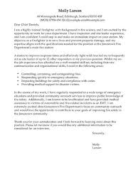 firefighter cover letter examples for emergency services livecareer