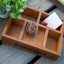 plateau de bureau en bois tssaag 5 slot zakka boîte de rangement en bois de pin tiroir plateau