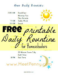 printable evening schedule our homeschool schedule with free printables to make life easier