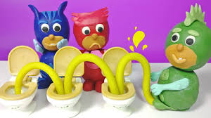 pj masks play doh disney junior toilet training stop motion gekko