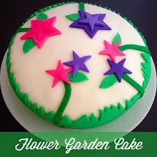 bake flower garden cake