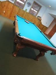 Peter Vitalie Pool Table by Billiard Items Include Brunswick Green Briar Ii Pool Table With