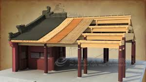 how did a chinese traditional house be built by 3d max 中國傳統