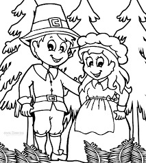 pilgrim and indian coloring pages thanksgiving eson me