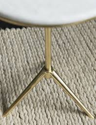 marble and brass coffee table daisy marble brass side table at rose grey