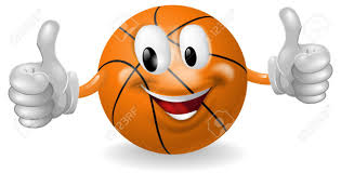 cute happy halloween clip art illustration of a cute happy basketball ball mascot man smiling