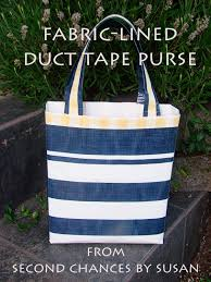 how to make a duct tape purse with fabric lining youtube