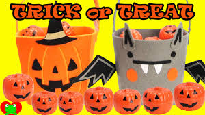 halloween candies shopkins and fashem surprises in buckets youtube