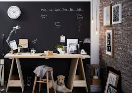 Accent Wall Tips by Decor U0026 Tips Home Office Design With Magnetic Chalkboard And