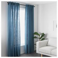 Merete Curtains Ikea Decor Ikea Aina Pair Of Curtains Linen Window Drapes 2 Panels 98 Grey