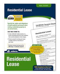 12 Vendor Agreement Template Rent Amazon Com Adams Residential Lease Forms And Instructions