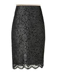 lace skirt black lace pencil skirt custom handmade fully lined