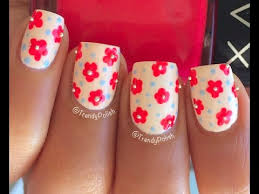 easy flower nail art using toothpick only youtube