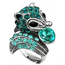 cute jewelry rings images Shop large blue cute amimal ring bold fashion jewellery hedgehog rings jpg