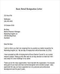basic resignation letter sample basic resignation letter sample