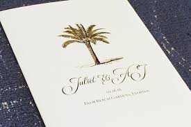 tree wedding invitations navy and gold foil palm tree wedding invitations the windmill