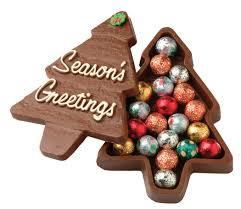 christmas tree chocolate christmas lights decoration