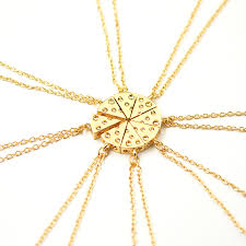 cheap necklace stores images 8pcs pizza cheese pendant necklaces gold silver friendship jpg