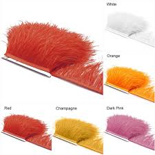 parade ribbon 10yards lot 10 15cm ostrich feather edge party clothing decoration