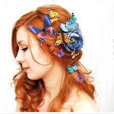 butterfly hair aliexpress buy 50pcs lot artificial butterfly hair