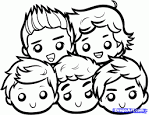 How to Draw Chibi One Direction, One Direction Boys, Step by Step ...