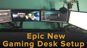 Gaming Desk Setups by Epic New Gaming Desk Setup U0026 Evodesk Com Review Youtube