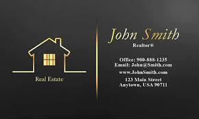 real estate new years cards color real estate business card design 106561